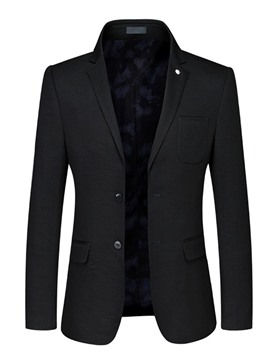 Ericdress Plain Slim Fit Mens Casual Jacket Blazer