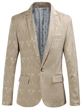 Ericdress Plain Print Slim Fit Mens Jacket Blazer