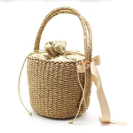 Ericdress Barrel-Shaped Grass Tote Bag