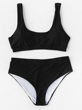 Ericdress Plain Cute Bikini Bathing Suits