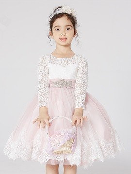 Ericdress Knee Length Ball Gown Flower Girl Dress