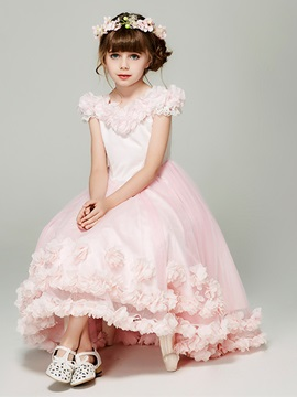 Ericdress Off the Shoulder Tulle A Line Flower Girl Dress