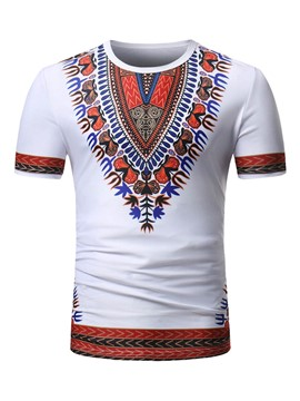 Ericdress Dashiki African Print Mens Loose T Shirt