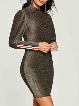 Ericdress Lantern Long Sleeve Sexy Women's Bodycon Dress