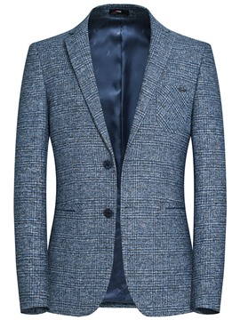 Ericdress Plaid Plain Slim Fit Mens Jacket Blazer
