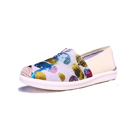 Ericdress Cloth Round Toe Slip-On Women's Flats