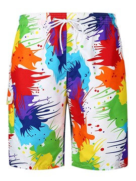 Ericdress Colorful Print Mens Loose Beach Board Swim Shorts