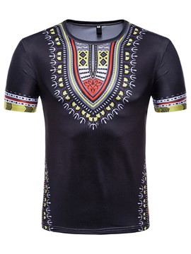 Ericdress African Fashion Dashiki Mens Summer T Shirt