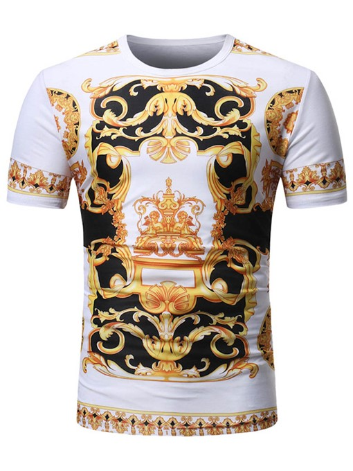Ericdress African Fashion Dashiki Color Block Mens Summer T Shirt