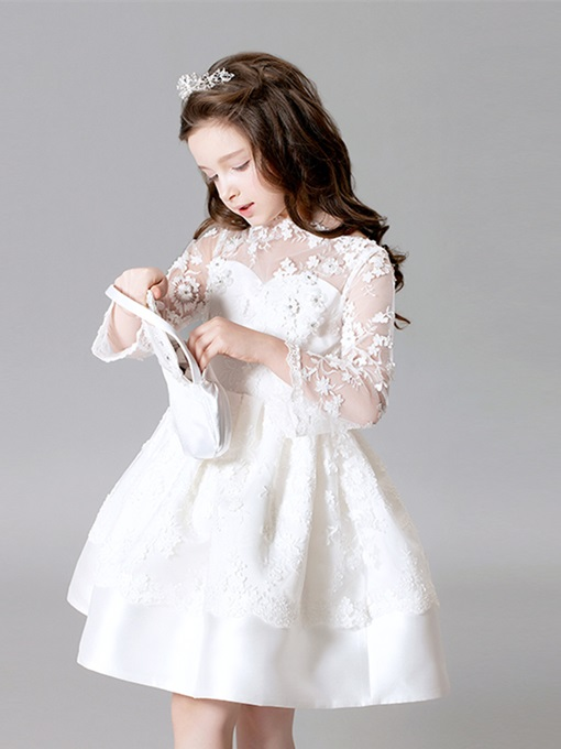 Ericdress Lace Ball Gown Knee Length Flower Girl Dress