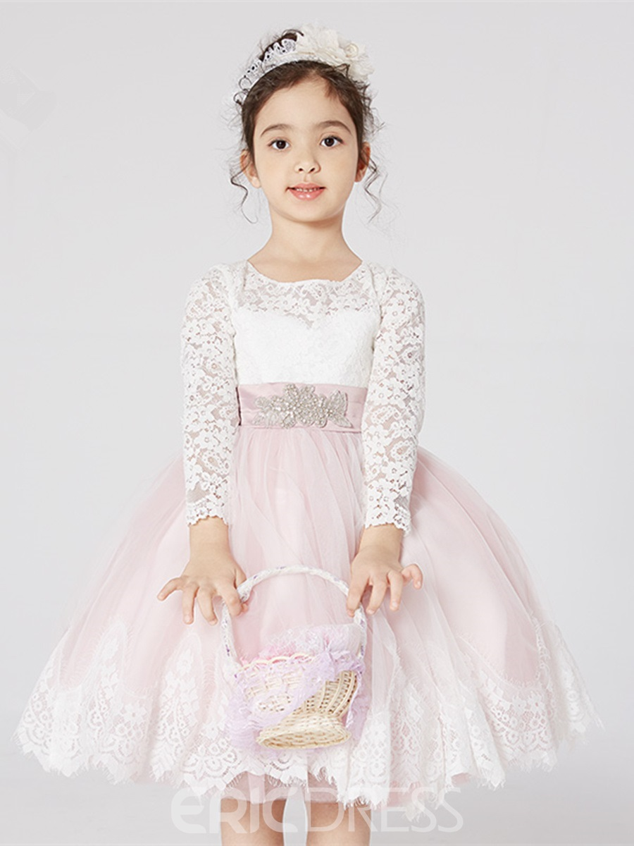 Ericdress Knee Length Ball Gown Flower Girl Dress 13245332 ...