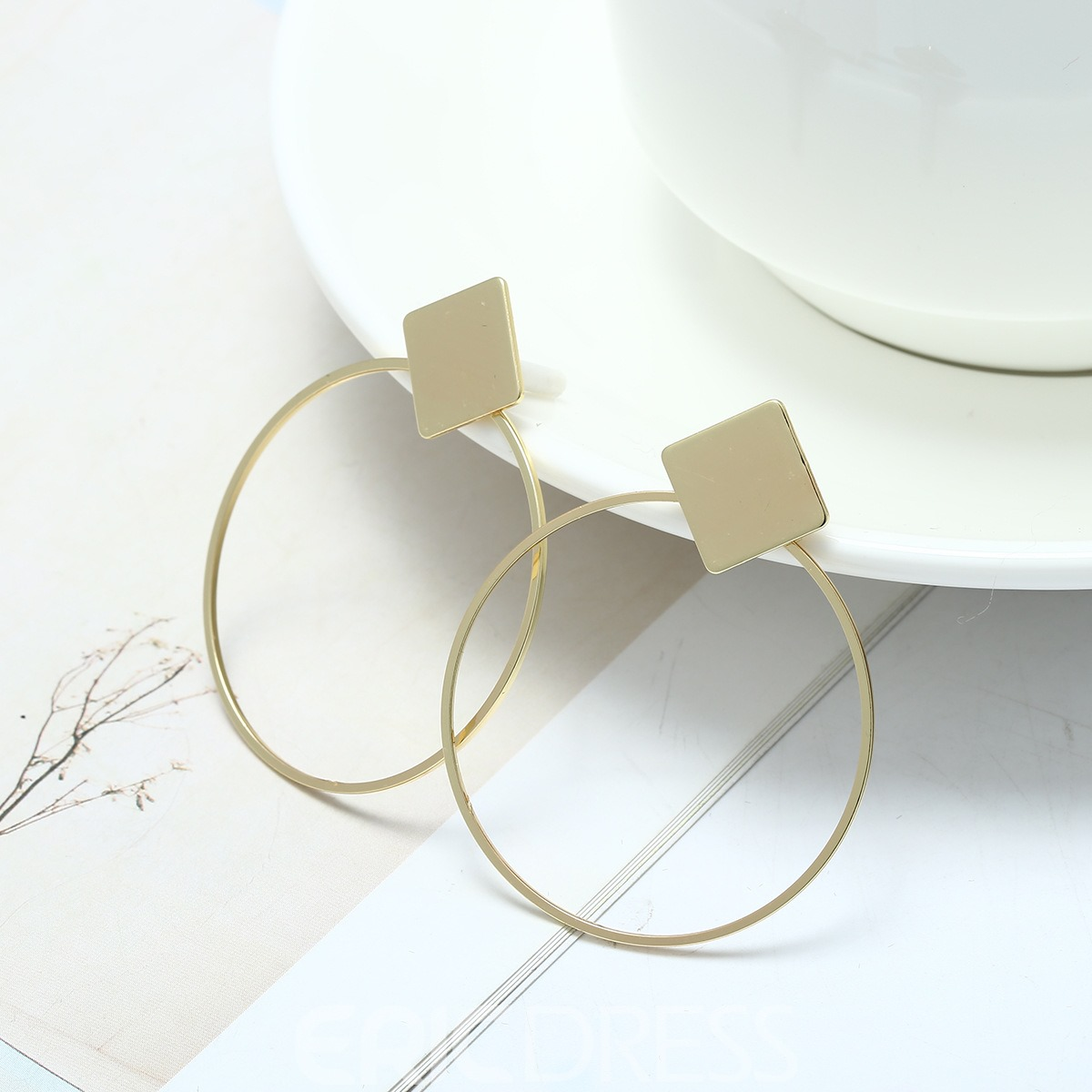 Ericdress Hoop Alloy Earrings