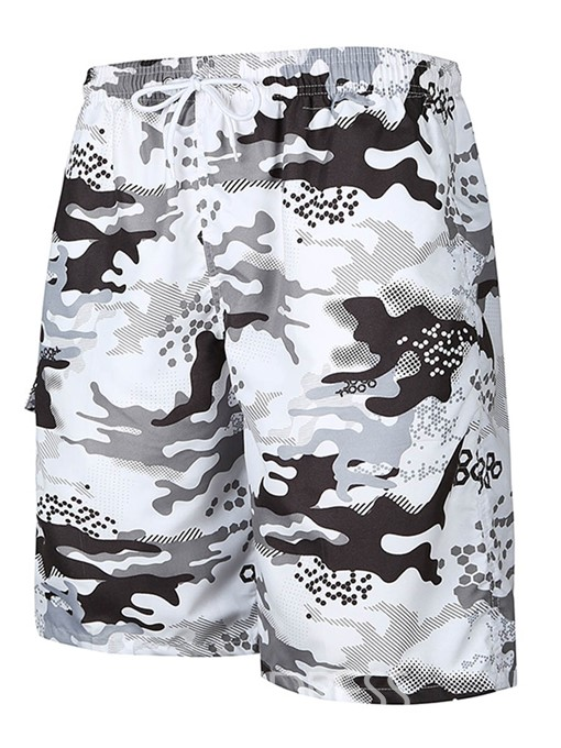 Ericdress Camouflage Print Mens Beach Board Swim Shorts