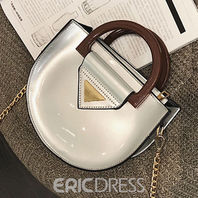 Ericdress Color Block Chain Tote Bag