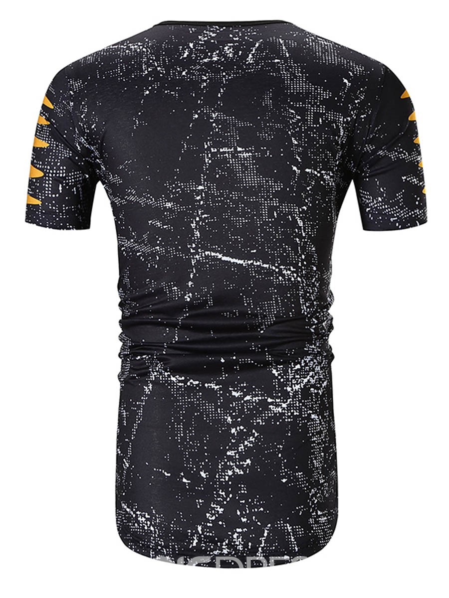 Ericdress Round Neck Print Short Sleeve Men's T-shirt