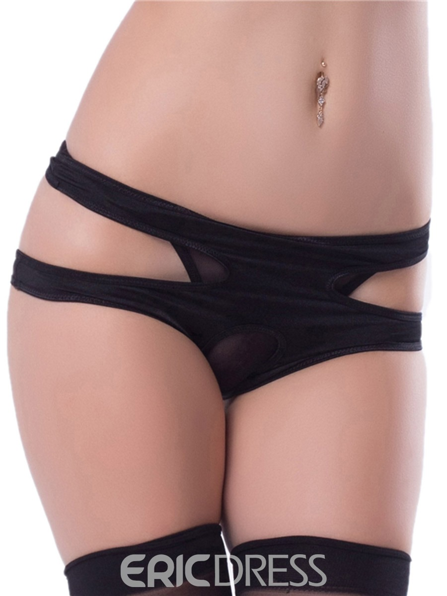 Ericdress Open Crotch Plain Polyester Panty
