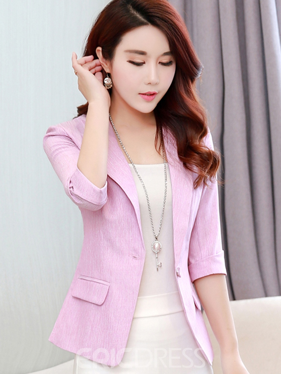 Ericdress Slim Notched Lapel OL Pocket Blazer