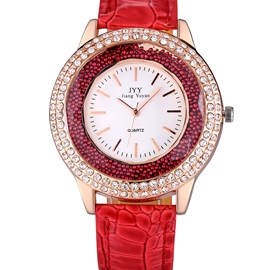 ericdress diamante colorful bead ladies watch
