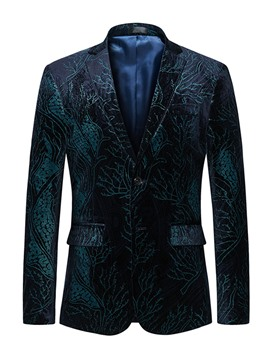 Ericdress Lapel Print Long SleeveFit Men's Blazer