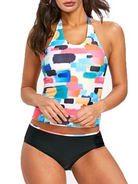Ericdress Color Block Tankini Bathing Suits