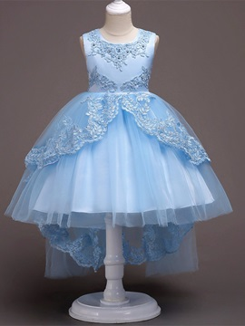 Ericdress Scoop Tulle Ball Gown Flower Girl Party Dress