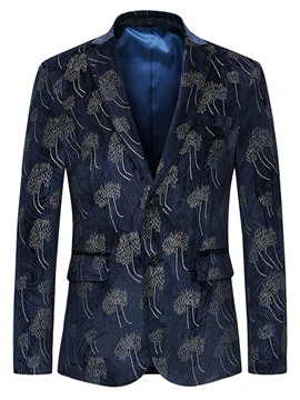 Ericdress Lapel Slim Fit Print Long Sleeve Men's Blazer
