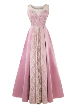 ericdress scoop cou dentelle rose robe de bal