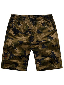 Ericdress Camouflage Straight Summer Shorts