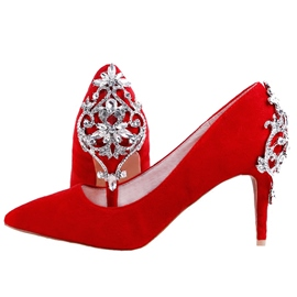 Ericdress Rhinestone Slip-On Stiletto Heel Wedding Shoes