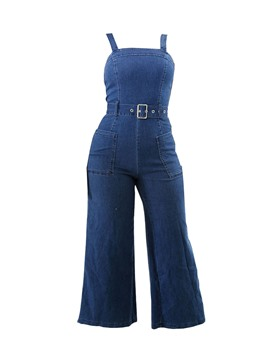 Ericdress Denim Backless Ankle Length Women's Suspenders