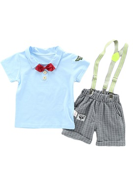 Ericdress Susoenders Epaulet Pocket Baby Boy's Summer Outfits