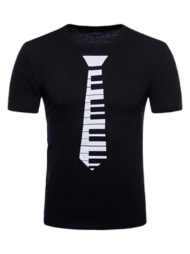 Ericdress Print Color Block Mens Basic T Shirt