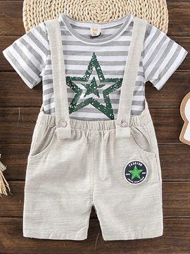 Ericdress Star Print T Shirt Print Suspenders Baby Boy's Outfits