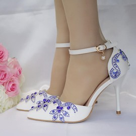 Ericdress Rhinestone Line-Style Buckle Stiletto Heel Wedding Shoes