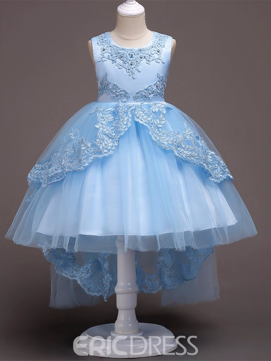 Ericdress Appliques Beading Ball Gown Girl Party Dress