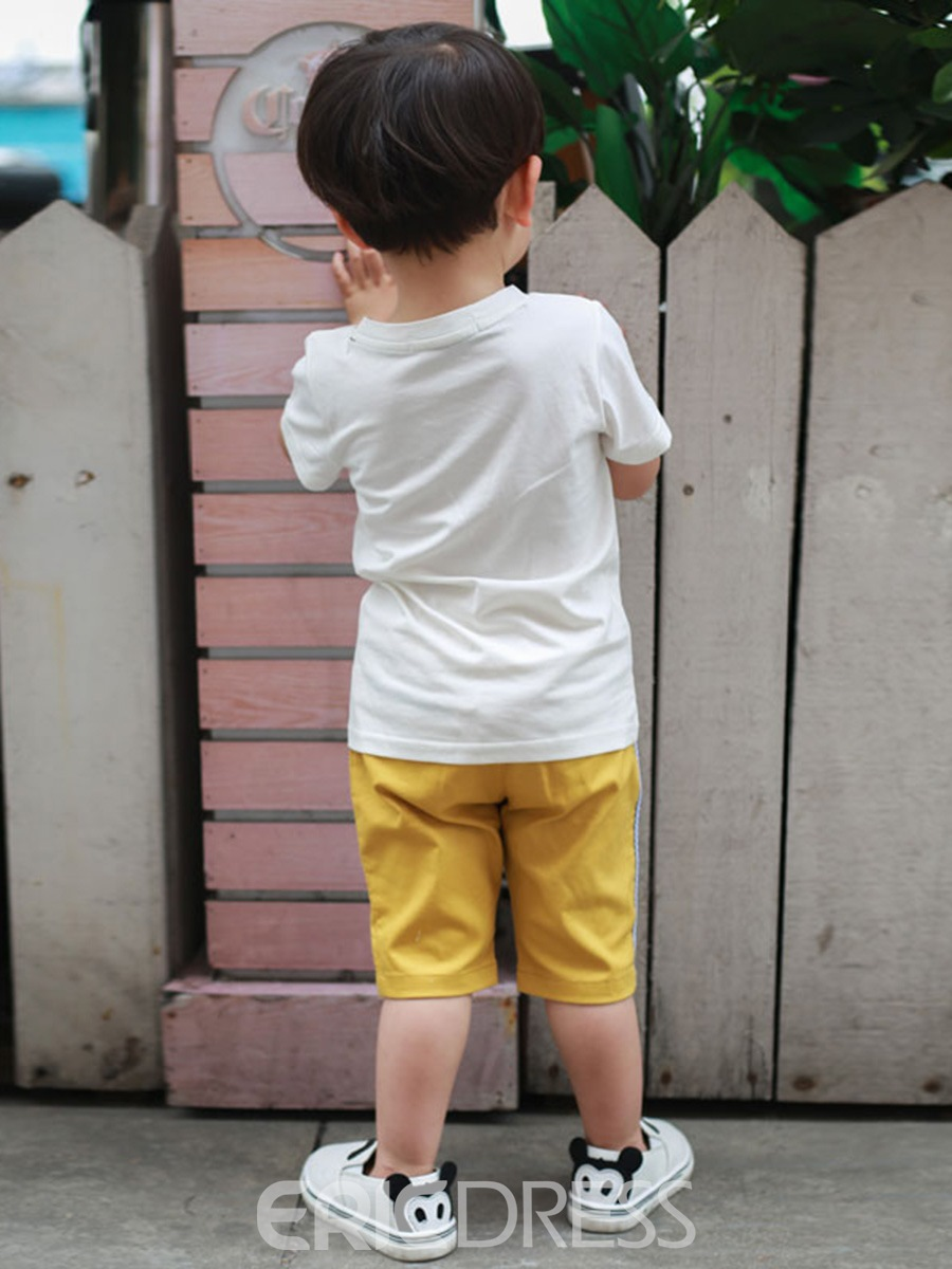 Ericdress Pocket Stripe Baby Boy's Summer Outfits