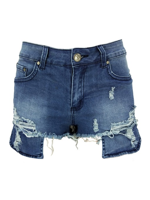 Ericdress Skinny Denim Low-Waist Women's Shorts