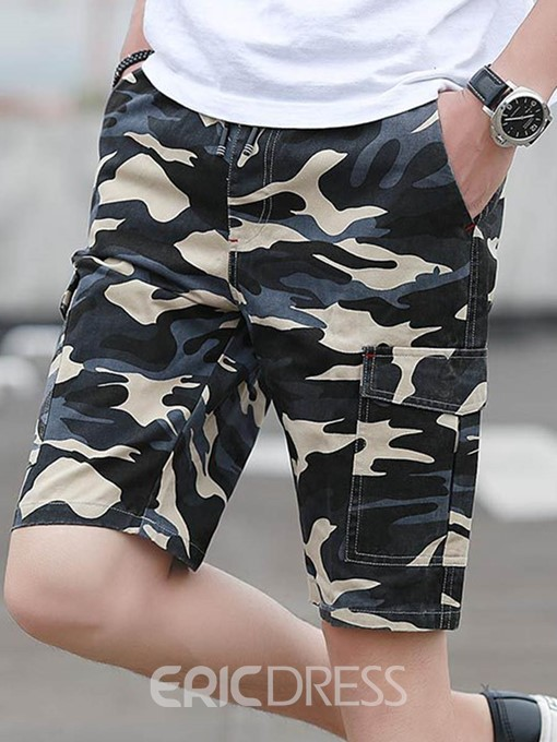 Ericdress Camouflage Side Pocket Mens Thin Shorts