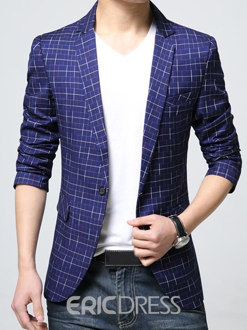 Ericdress Notched Lapel Print Slim Fit Men's Blazer