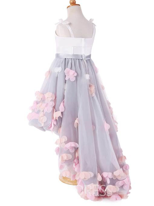 Ericdress Straps Ball Gown High Low Flower Girl Dress