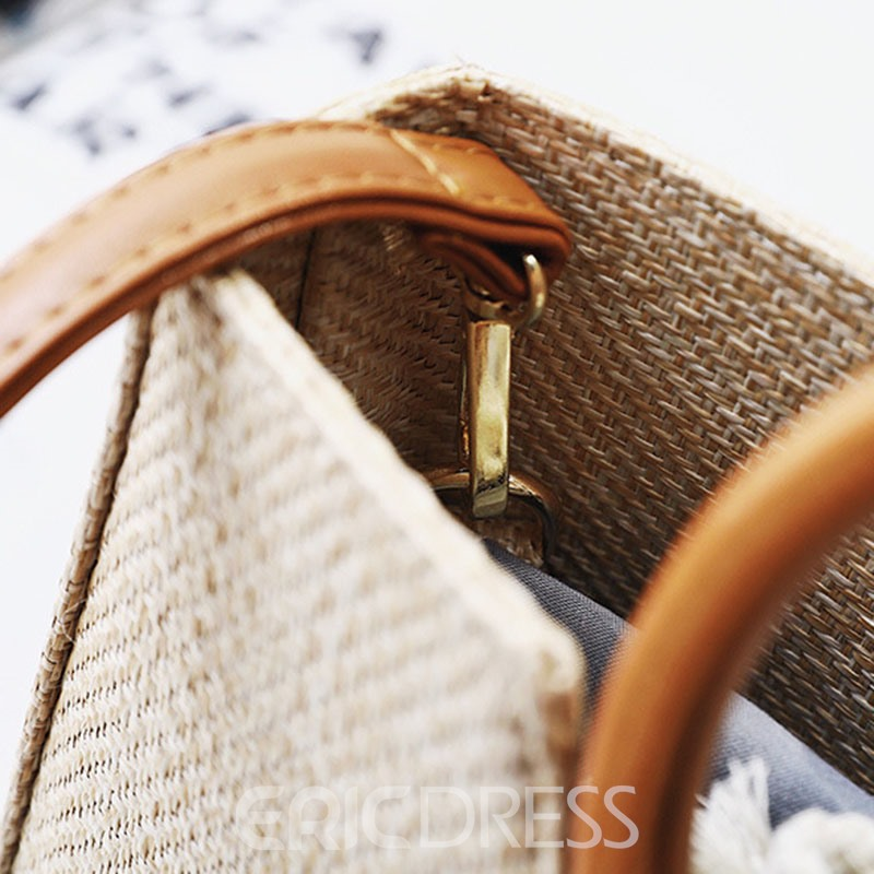 Ericdress Modern Style Grass Knitted Tote Bag