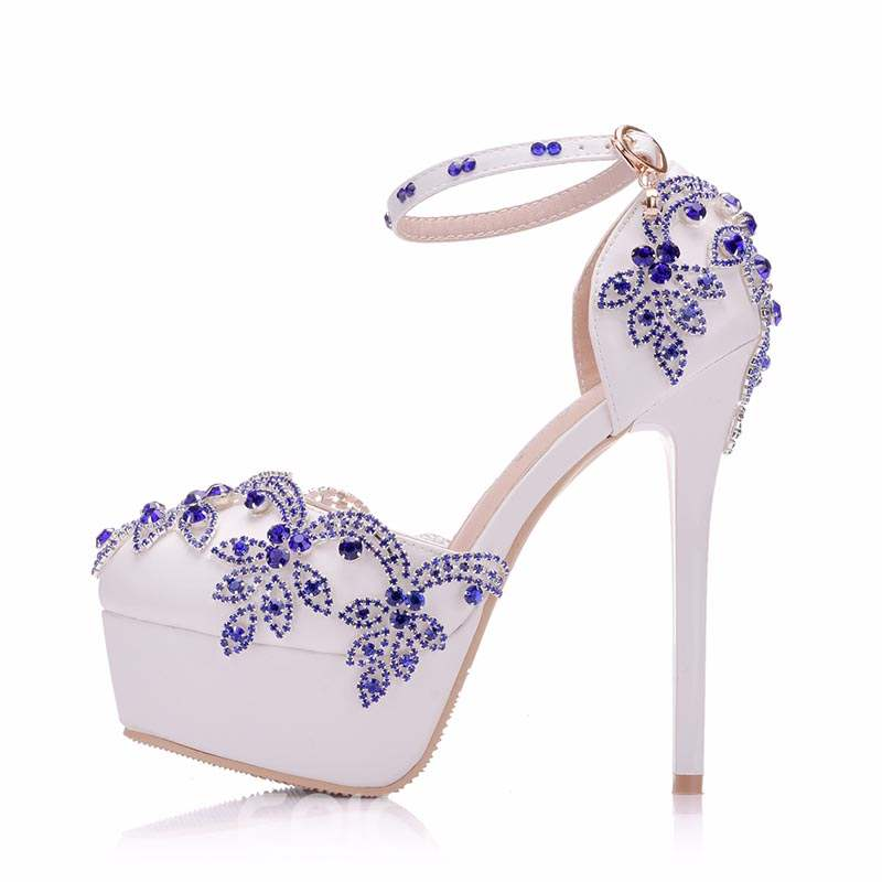 Ericdress Rhinestone Platform Stiletto Heel Wedding Shoes