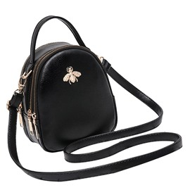 ericdress plain pu women cross body bag
