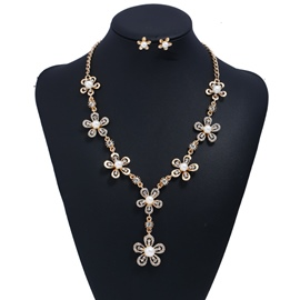Ericdress Pearl & Imitation Diamond Flower Wedding Jewelry Set for Bride
