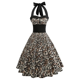Ericdress A-Line Leopard Women's Dress