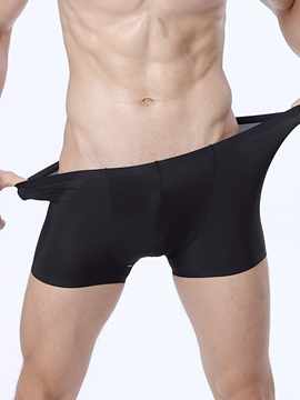 Ericdress Super Thin Breathable Seamless Ice Silk Boxer Briefs for Men