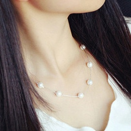Ericdress Pearl Sweet Chain Necklace