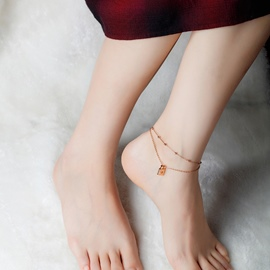 Ericdress Hollow Out Heart Bag Pendant Anklets