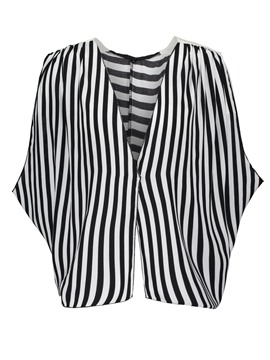 Ericdress Stripe V-Neck Sleeveless Blouse