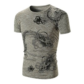Ericdress Animal Printed Slim Fit Mens Scoop T Shirts